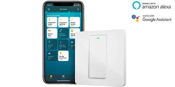 Interruptor Wifi Meross compatible con Alexa y Google Assistant
