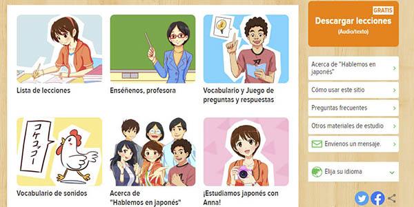 japonés curso Aprende gratis vídeos audios