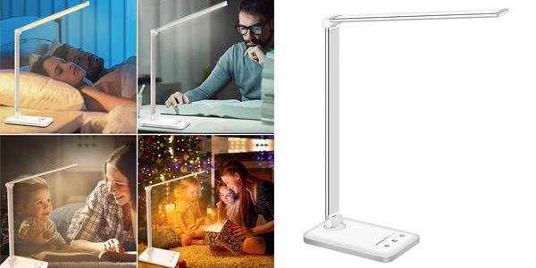 Lámpara LED Slator para escritorio con 10 niveles de brillo y 5 ajustes de luz barata en Amazon
