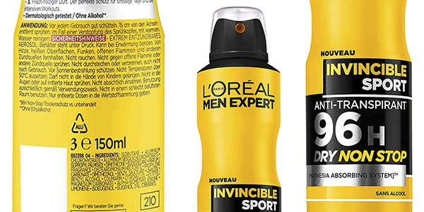 L'Oréal Paris Men Expert desodorante spray pack ahorro