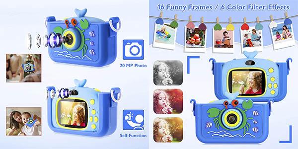 Luclay cámara digital infantil vídeo foto barata