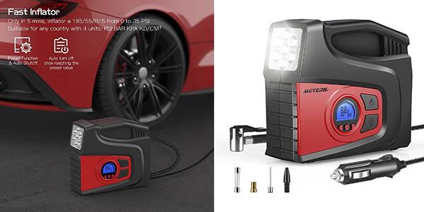 Meterk compresor aire coche barato
