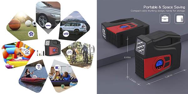 Meterk compresor aire eléctrico oferta