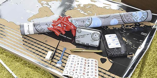 Nightmare Style mapamundi rascar tarjetero regalo oferta