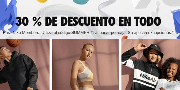 Nike rebajas cupón summer21