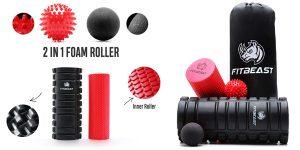Pack FitBeast de Rodillos de espuma y pelotas para ejercicios musculares de activación y recuperación barato en Amazon