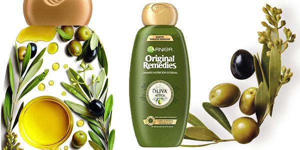 Pack x3 Champú Garnier Original Remedies Oliva Mítica de 600 ml/ud chollo en Amazon