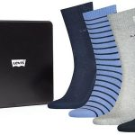 Pack x4 calcetines Levi's Mountain Regular Cut Socks en caja de regalo barato en Amazon