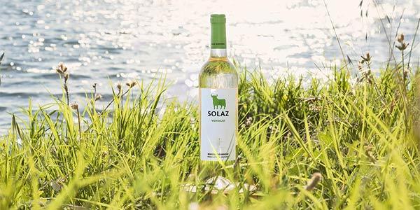 Pack x6 Vino Solaz Blanco 100% Verdejo de 750 ml/ud chollo en Amazon