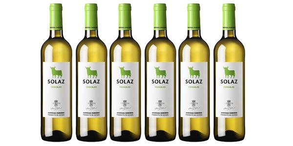 Pack x6 Vino Solaz Blanco 100% Verdejo de 750 ml/ud barato en Amazon