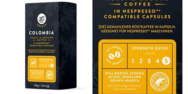 Pack x80 cápsulas café Amazon Happy Belly Select Colombia chollo en Amazon