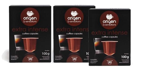 Pack x60 Cápsulas de café Origen & Sensations Extra Intenso barato en AliExpress Plaza