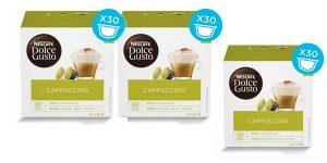 Pack x90 cápsulas de café Dolce Gusto Cappuccino extra cremoso barato en Amazon
