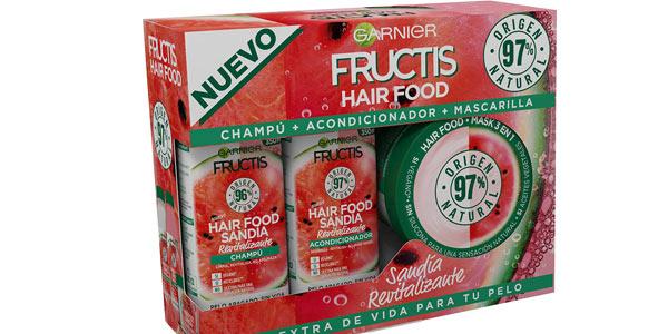 Pack Garnier Fructis Hair Food Sandía revitalizante barato en Amazon