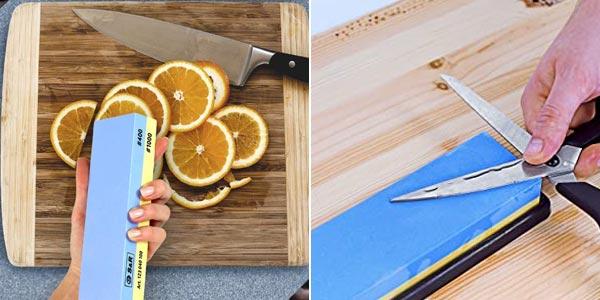 Piedra de afilar cuchillos 400/1000 S&R oferta en Amazon