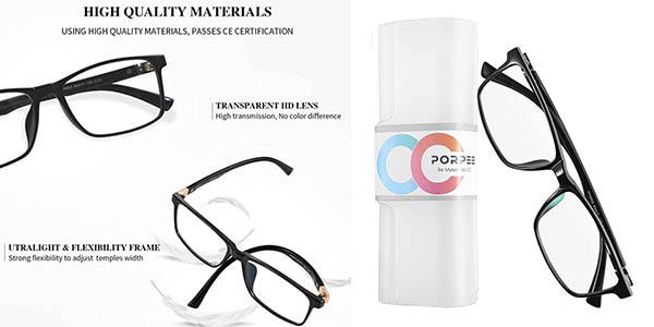 Porpee gafas filtro luz azul baratas