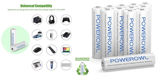 Powerowl pilas recargables AAA chollo