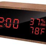 Reloj despertador digital meross con 3 alarmas y 3 niveles de brillo barato en Amazon