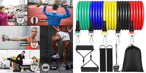 Set de Bandas de Resistencia Fitness MISSJJ barato en Amazon