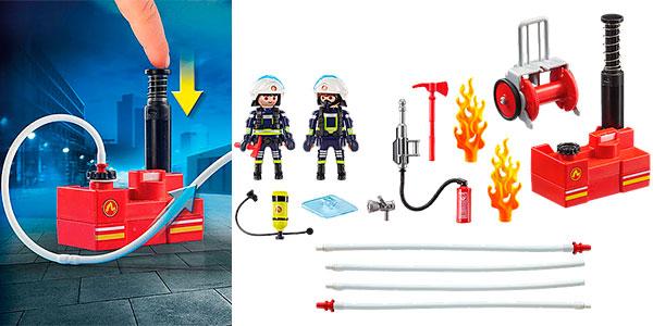 Set Bomberos con bomba de agua de Playmobil barato