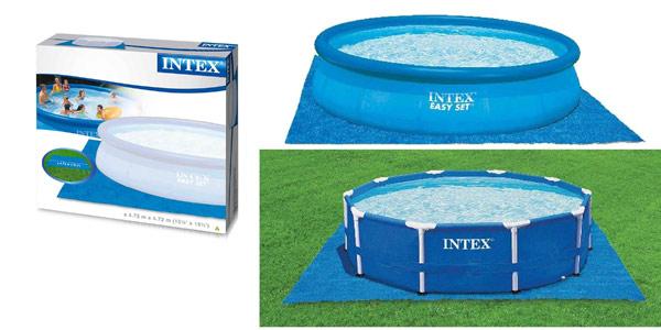 Tapiz de 472 cm Intex 28048 para piscinas de 244, 305, 366 y 457 cm chollo en Amazon