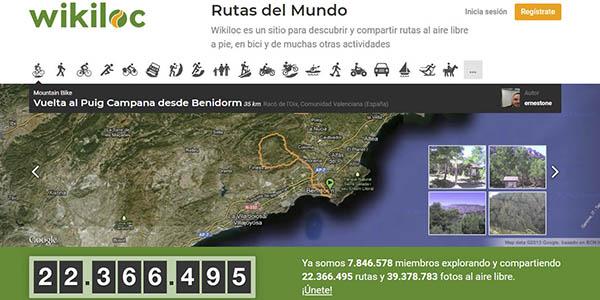 Wikiloc rutas senderismo mundo