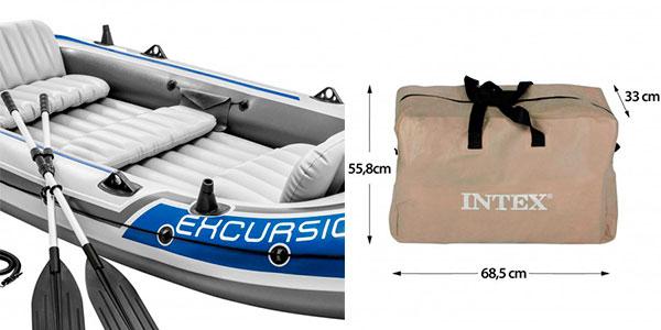 Barca hinchable Intex Excursion 5 para 5 personas con 2 remos barata