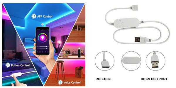 Controlador WiFi para tiras LED barato