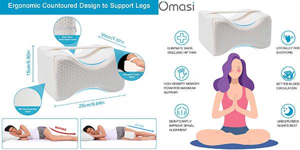 Almohada ergonómica para piernas Omasi barata