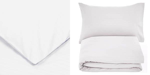 Amazon Basics juego ropa de cama funda nórdica microfibra oferta