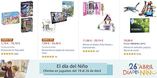 Amazon Día del niño promoción juguetes