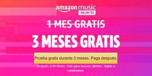 Amazon Music Unlimited gratis