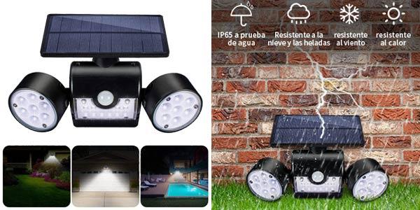 Luz LED Solar Exterior GIANTARM con sensor de movimiento chollo en Amazon