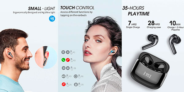 Auriculares Tiksounds X15 impermeables con Bluetooth 5.0+ baratos