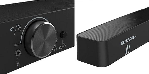 Barra de sonido BlitzWolf BW-GS3 para PC con iluminación LED barata