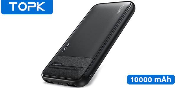 Batería externa TOPK de 10000 mAh y 2 USB