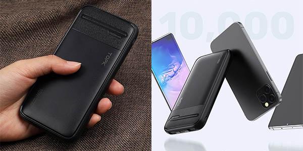 Batería externa TOPK de 10000 mAh y 2 USB barata
