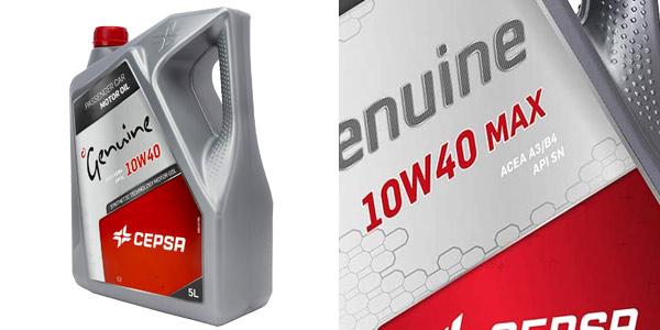 Lubricante semisintético Cepsa Genuine 10W40 MAX de 5L para vehículos de gasolina y diésel oferta en Amazon