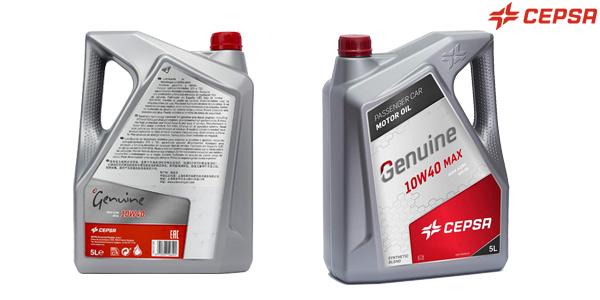 Lubricante semisintético Cepsa Genuine 10W40 MAX de 5L para vehículos de gasolina y diésel barato en Amazon