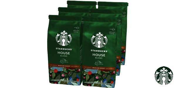 Pack 6x Café molido Starbucks House Blend 200 gr