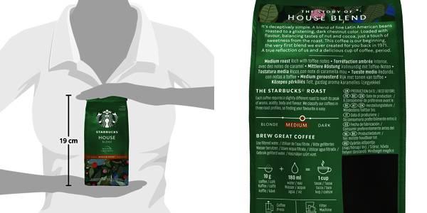 Pack 6x Café molido Starbucks House Blend 200 gr barato