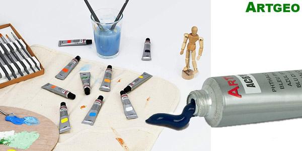 Pack de 24 Colores de Pintura acrílica Artgeo oferta en Amazon