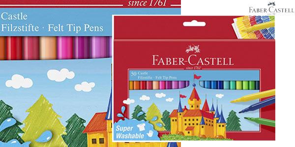 Estuche cartón x50 rotuladores escolares Faber-Castell 554204 barato en Amazon