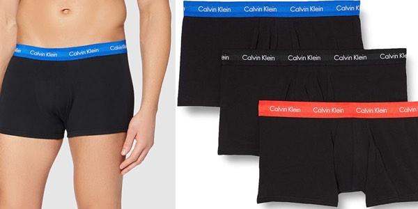 Pack x3 Bóxers Calvin Klein Cotton Stretch para hombre baratos en Amazon