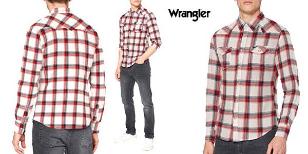 Camisa Wrangler LS Western para hombre barata en Amazon