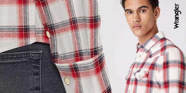 Camisa Wrangler LS Western para hombre chollo en Amazon