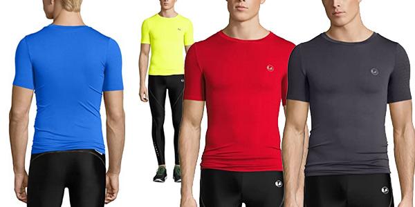 Camiseta de compresión Ultrasport Noam para hombre barata en Amazon