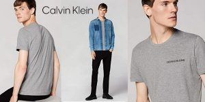 Camiseta de manga corta Calvin Klein Chest Institutional Slim SS para hombre barata en Amazon