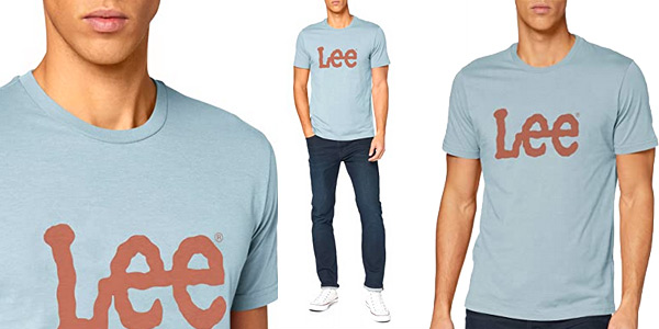 Camiseta de manga corta Lee Woobly Logo para hombre barata en Amazon