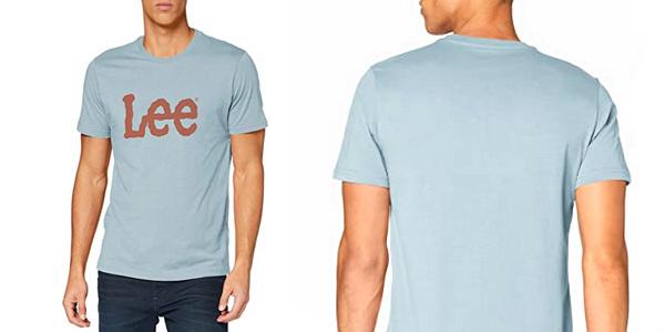 Camiseta de manga corta Lee Woobly Logo para hombre chollo en Amazon